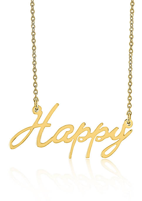Belk & Co. 10k Yellow Gold Happy Necklace