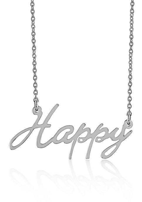 Belk & Co. Sterling Silver Happy Necklace