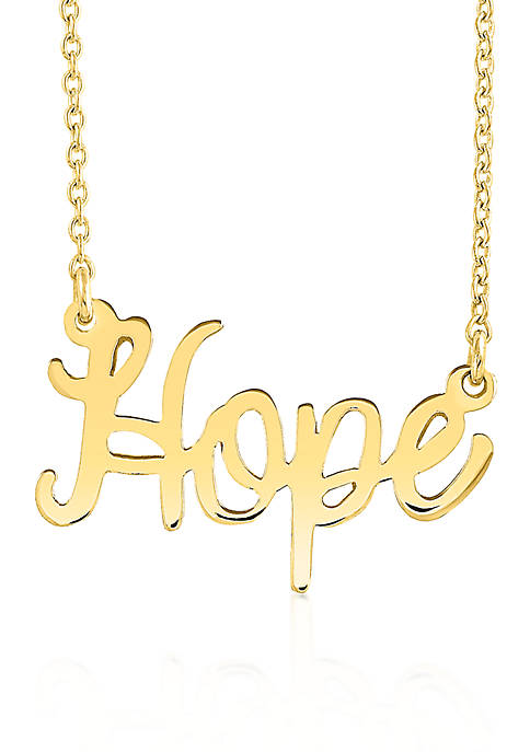 Belk & Co. 14k Yellow Gold Hope Necklace