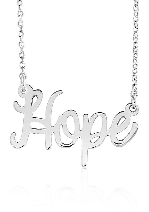 Belk & Co. Sterling Silver Hope Necklace