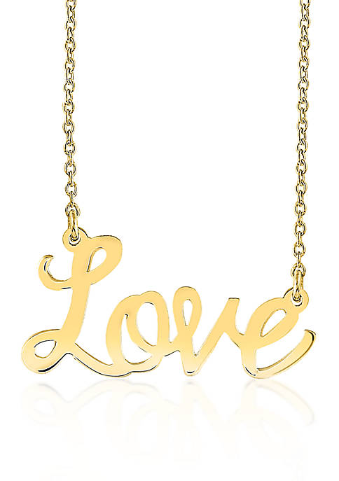 Belk & Co. 14k Yellow Gold Love Necklace