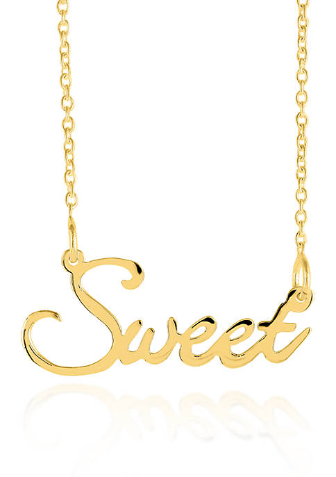 14k Yellow Gold Sweet Necklace
