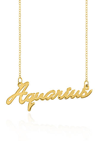 constellation everything products zodiac necklace aquarius product image