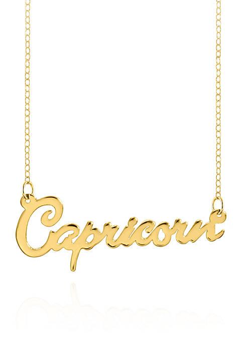 10k Yellow Gold Capricorn Necklace