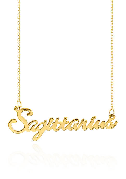 Belk & Co. 10k Yellow Gold Sagittarius Necklace