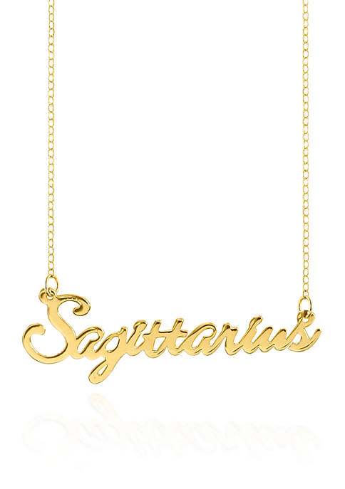 Belk & Co. 14k Yellow Gold Sagittarius Necklace