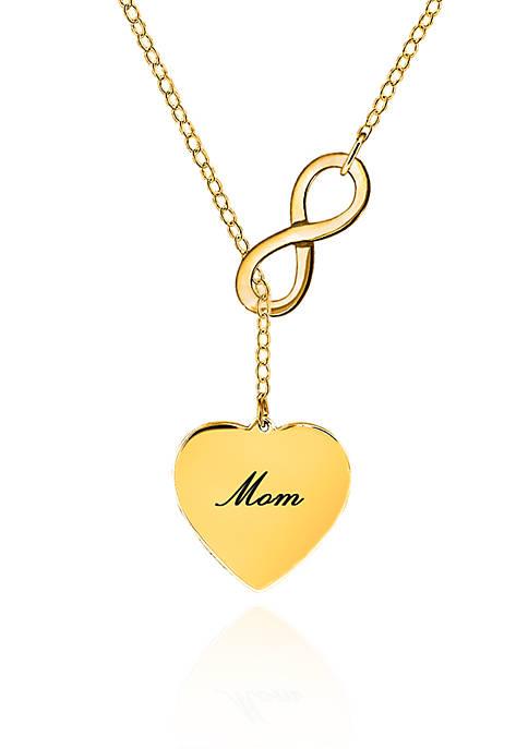 Belk & Co. 14k Yellow Gold Mom Infinity