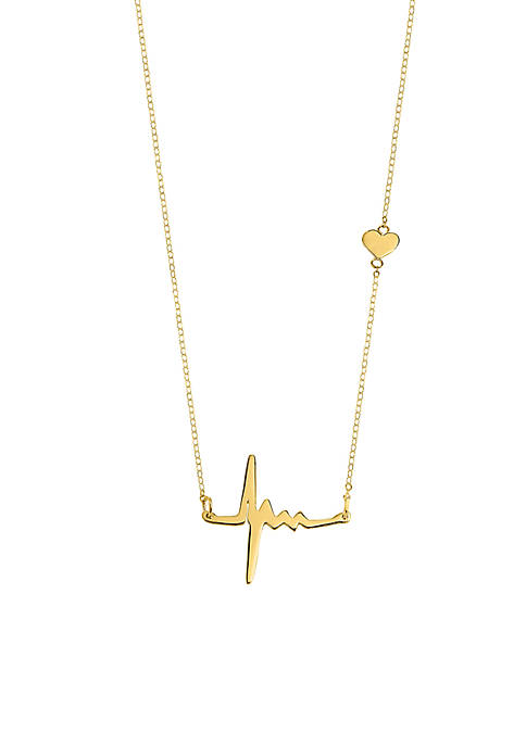 Belk & Co. 14k Yellow Gold Heartbeat Pendant