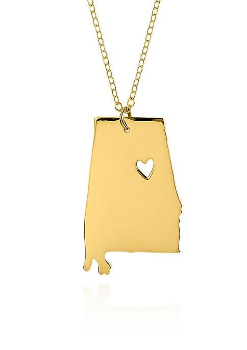 Belk & Co. 14k Yellow Gold Alabama State
