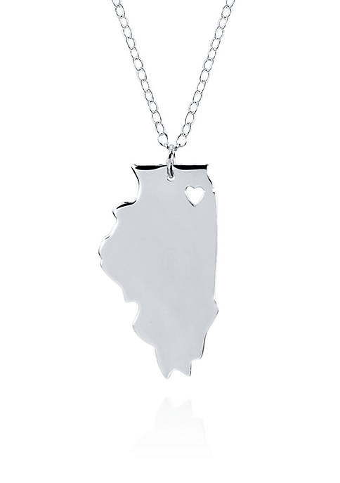 Belk & Co. Sterling Silver Illinois State Pendant