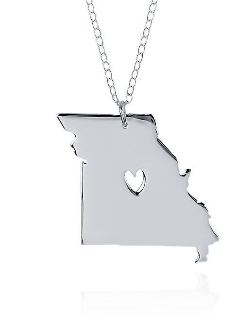 Sterling Silver Missouri State Pendant
