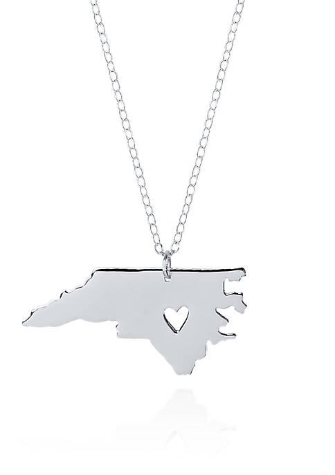 Sterling Silver North Carolina State Pendant