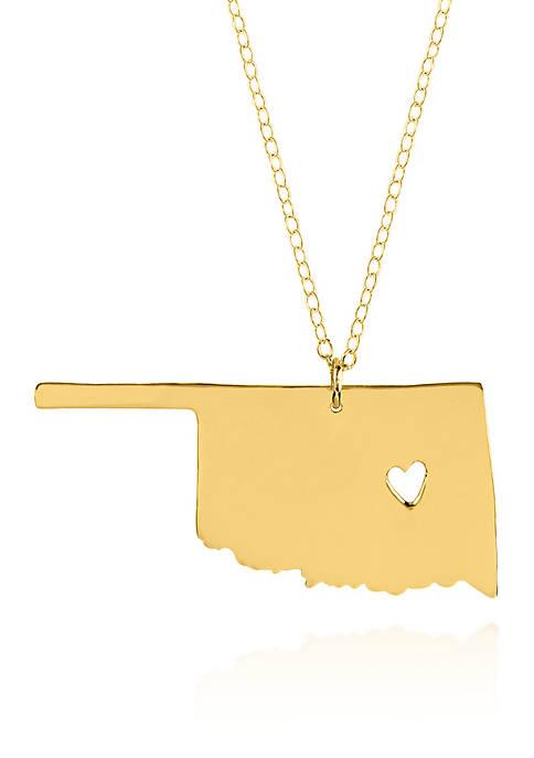 10k Yellow Gold Oklahoma State Pendant