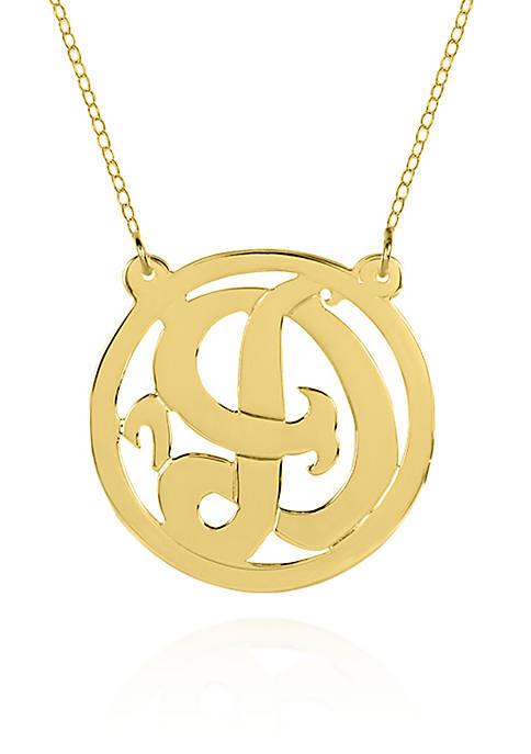 10k Yellow Gold D Monogram Necklace