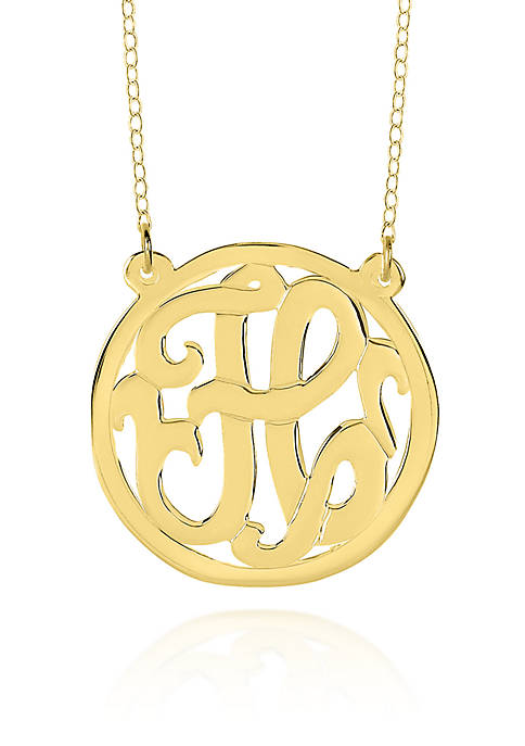 14k Yellow Gold H Monogram Necklace