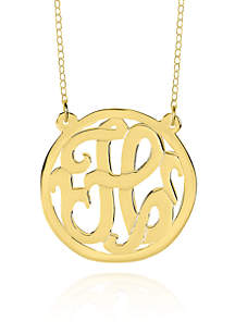 14k Yellow Gold H Monogram Necklace