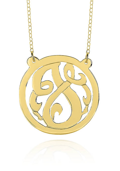 14k Yellow Gold J Monogram Necklace