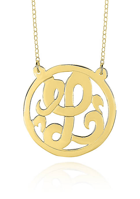 10k Yellow Gold L Monogram Necklace