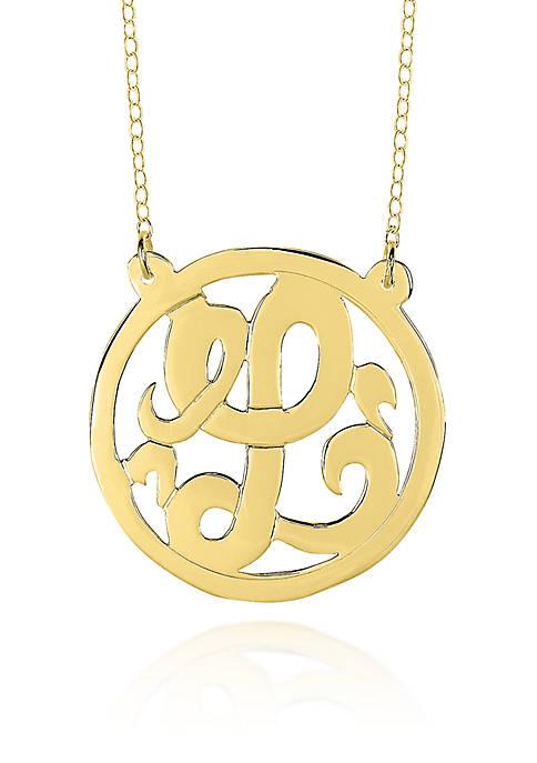 14k Yellow Gold L Monogram Necklace