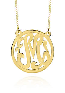 14k Yellow Gold M Monogram Necklace