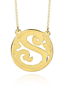 10k Yellow Gold S Monogram Necklace