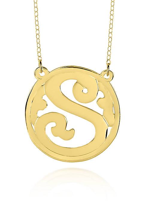 14k Yellow Gold S Monogram Necklace