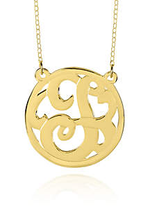 10k Yellow Gold T Monogram Necklace