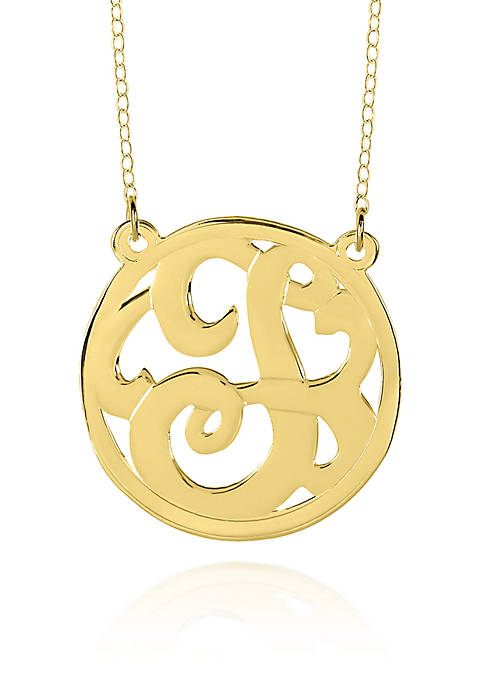 14k Yellow Gold T Monogram Necklace