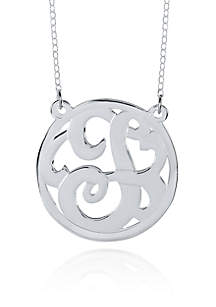 Sterling Silver T Monogram Necklace