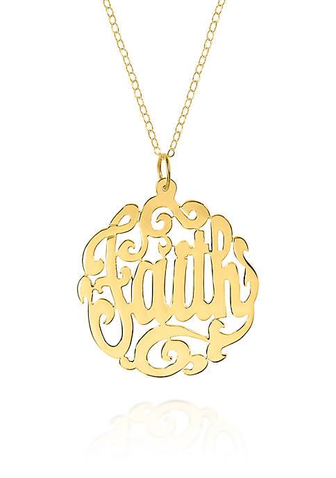 Belk & Co. 14k Yellow Gold Faith Monogram