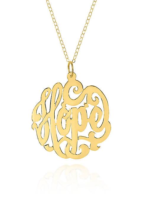 10k Yellow Gold Hope Monogram Pendant