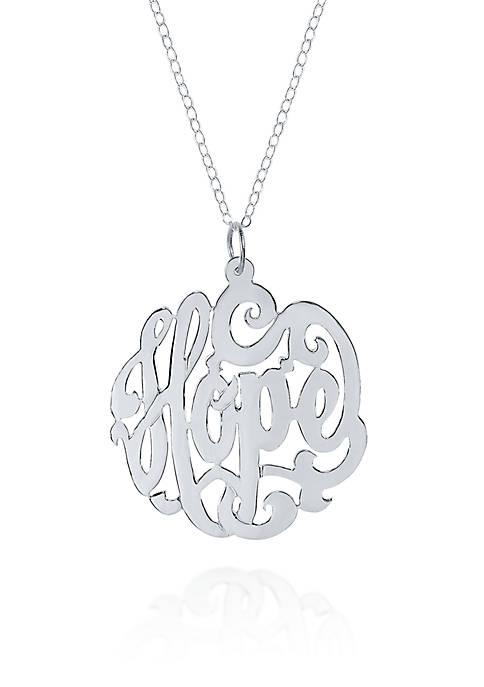 Belk & Co. Sterling Silver Hope Monogram Pendant