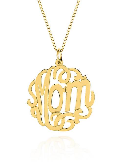 Belk & Co. 14k Yellow Gold Mom Monogram