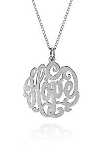Sterling Silver Hope Monogram Pendant