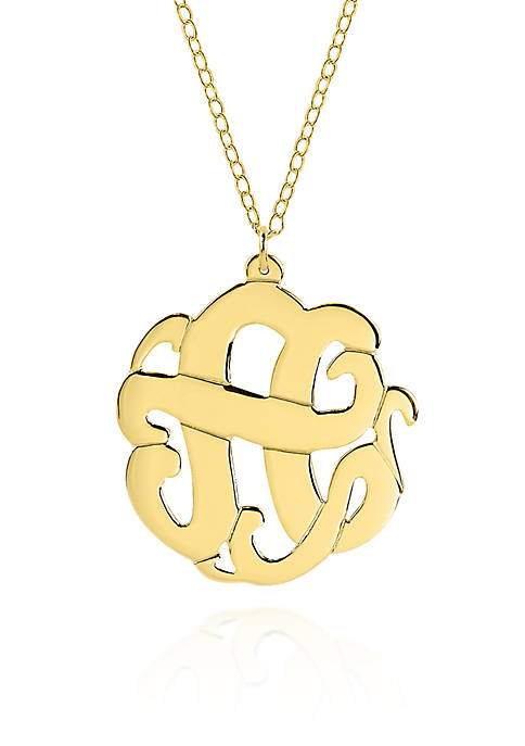 10k Yellow Gold A Monogram Necklace