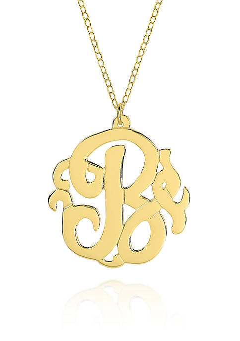 10k Yellow Gold B Monogram Necklace