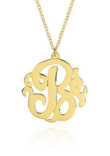 14k Yellow Gold B Monogram Necklace
