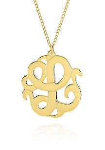 14k Yellow Gold L Monogram Necklace