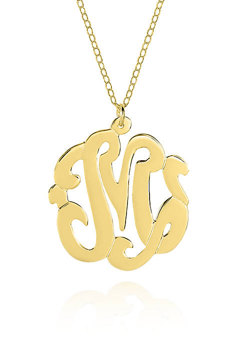 Belk & Co. 14k Yellow Gold M Monogram
