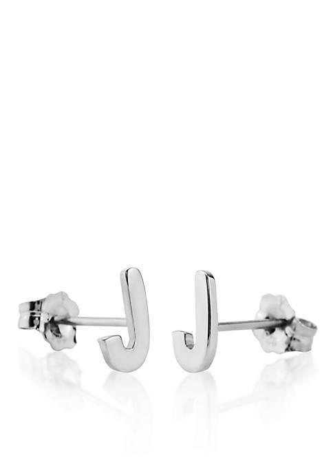 Belk & Co. Sterling Silver J Initial Earrings