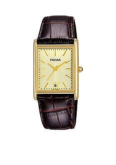 Pulsar Mens 30m Champagne-Toned Dial Watch