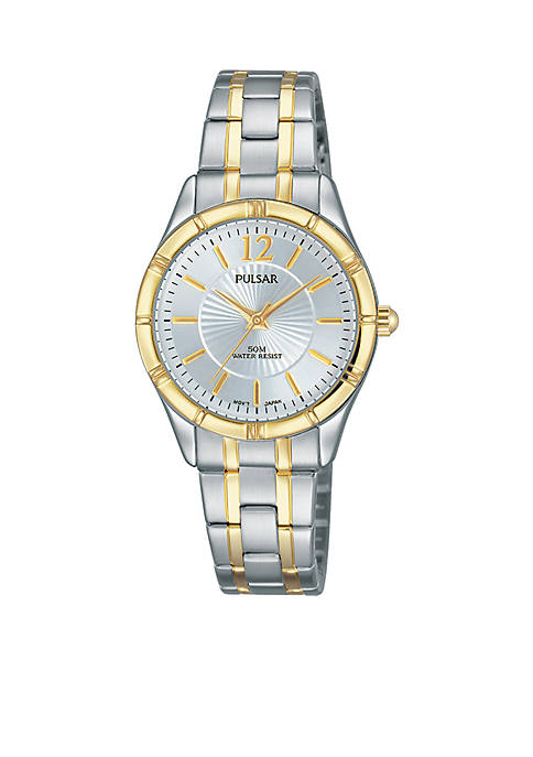 Pulsar Womens Two-Tone Easy Style Silver Dial Watch