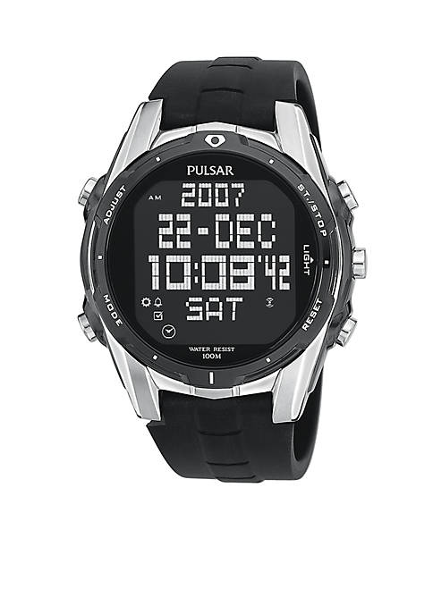 Pulsar Mens Digital Chronograph World Time Watch