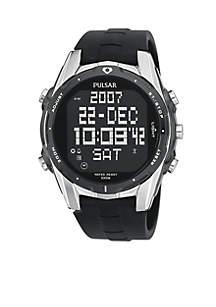 Men's Digital Chronograph World Time Watch