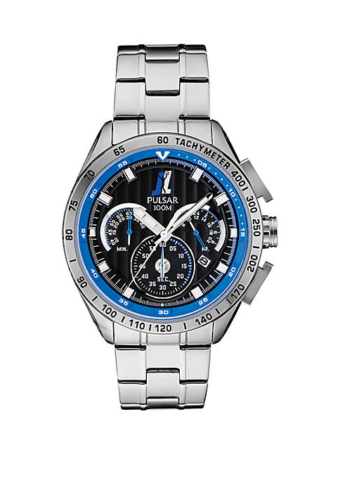 Pulsar Mens Stainless Steel Joey Logano Special Edition