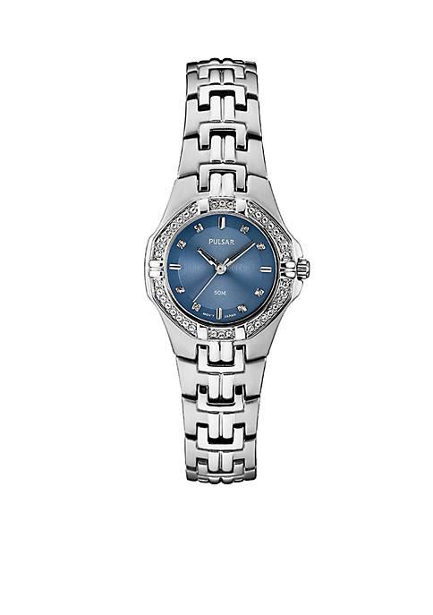 Pulsar Womens Stainless Steel Swarovski® Crystal Blue