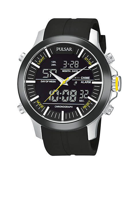 Pulsar Mens Active Sport Digital and Analog Strap