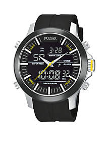 Men's Active Sport Digital and Analog Strap Watch