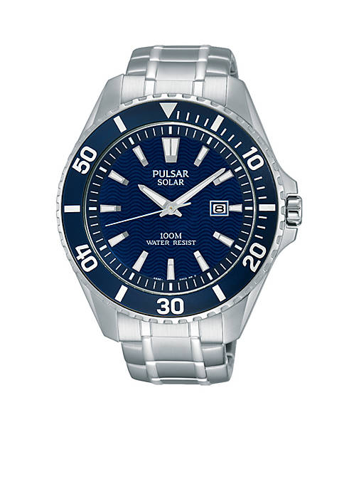 Pulsar Mens Solar Sport Watch