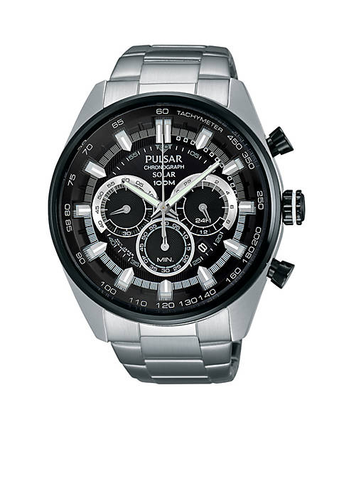 Pulsar Mens Solar Chronograph Watch
